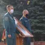 Пожарные и спасатели Кузбасса приняли участие в благодарственном молебне в честь образа Божьей Матери «Неопалимая Купина»